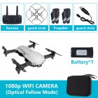 Drone x pro 5G Selfie WIFI FPV with 4K HD Dual Camera Foldable RC Quadcopter 1080P Silver 1 battery