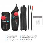 Dual Mode Network Cable Tracker Wire Toner RJ45 RJ11 Ethernet LAN Tracer Analyzer Detector Line Finder Black   red
