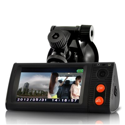 Dual Camera Car DVR Blackbox w/
