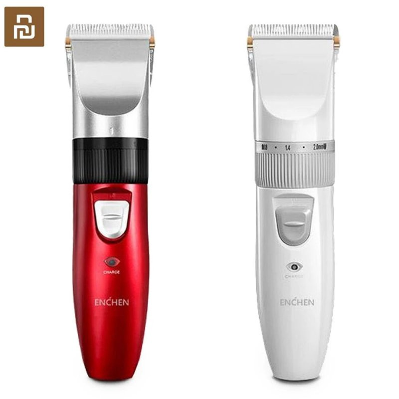 ENCHEN Electric Hair Clipper Hair Trimmer Hair Cutting USB Charging Beard Cutter Machine For Adult Children 712 white