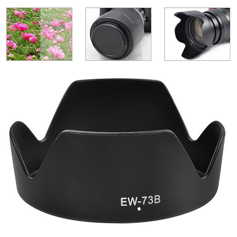 EW-73B Lens Hood Reversible Camera Lente Accessories For Canon 650D 550D 600D Camera Len Cover black