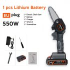 Electric  Chain  Saw 24 V Lithium Battery Portable Electric Pruning Saw Rechargeable Woodworking Mini Electric Saw Eu plug