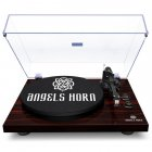 Electric Record  Player Vinyl Turntable 05 Type Black Traditional Style black