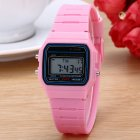 Electric Sport Watch LED Digital Waterproof Quartz Wrist Watch Gifts for Boys and Girls powder