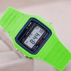 Electric Sport Watch LED Digital Waterproof Quartz Wrist Watch Gifts for Boys and Girls green