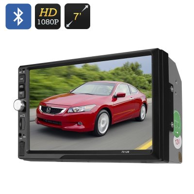 2 DIN Car MP5 Player - 7 Inch Display, 1080P, Bluetooth, 800 x 480 RGB