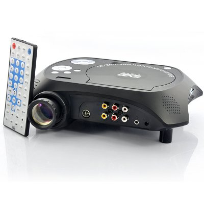 LED Multimedia Projector DVD Player - 480x320, 20 Lumens, 100:1