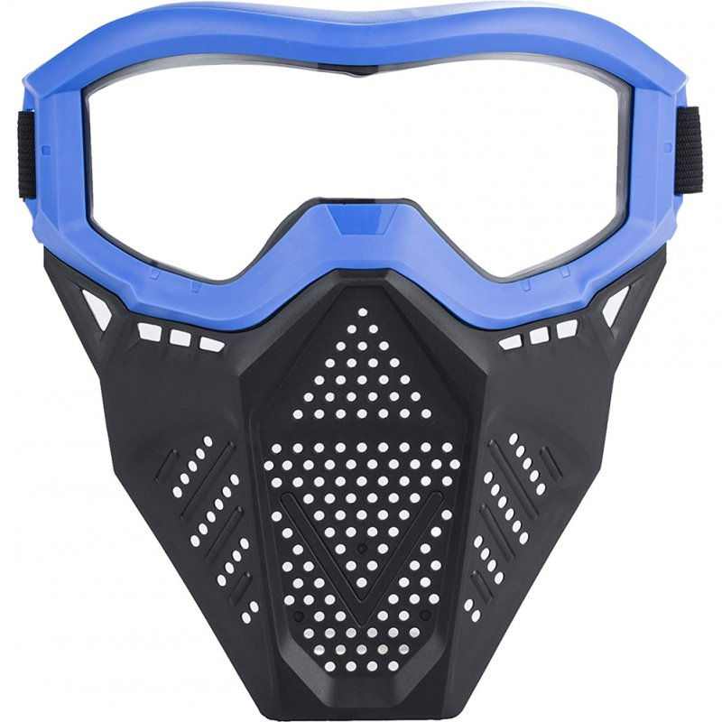Face Mask with Goggles Compatible with Nerf Rival Apollo Zeus Khaos Blasters Rival Mask blue