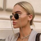 Fashion Chain Metal Twist Neck Wear Shiny Anti-skid Glasses Chain Sunglasses Accessories Anti-loss Cord  Gold