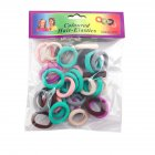 Fashion Elastic Seamless Hair Rings Set Simple Kids Girls Decoration 2.5CM