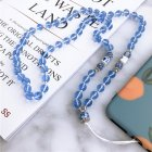 Hand-woven Mobile Phone Chain Pendant Blue