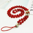 Hand-woven Mobile Phone Chain Pendant Red