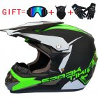 Fashion Outdoor Off Road Casco Motorcycle & Moto Dirt Bike Motocross Racing Helmet Set with Mask L