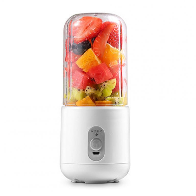 Fashion Portable Electric Juicer USB Charging Multi-function Blender White single plastic cup