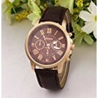 Fashion Numbers Leather Belt Watch Coffee