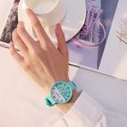 Fashion Simple Bright Colors Sweet Style Elagant Watch with Silica Gel Strap mint green