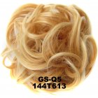 Fashion Synthetic Women Hair Pony Tail Hair Extension Bun Hairpiece Scrunchie Elastic Wedding Wave Curly  144T613