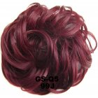 Fashion Synthetic Women Hair Pony Tail Hair Extension Bun Hairpiece Scrunchie Elastic Wedding Wave Curly  99J