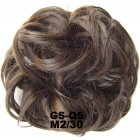 Fashion Synthetic Women Hair Pony Tail Hair Extension Bun Hairpiece Scrunchie Elastic Wedding Wave Curly  M2/30