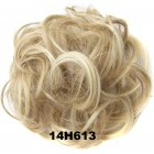 Fashion Synthetic Women Hair Pony Tail Hair Extension Bun Hairpiece Scrunchie Elastic Wedding Wave Curly  14H613