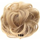 Fashion Synthetic Women Hair Pony Tail Hair Extension Bun Hairpiece Scrunchie Elastic Wedding Wave Curly  18#