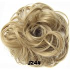 Fashion Synthetic Women Hair Pony Tail Hair Extension Bun Hairpiece Scrunchie Elastic Wedding Wave Curly  J24#
