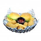 Fast Food Baskets French Fries Organizer Metal Frying Net Storage Box Bread Hamburger Holder Large black round basket
