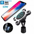Fast Wireless Car Charger Magnetic Charging Pad Holder for Samsung iPhone XS black
