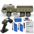 Fayee FY004A 1/16 2.4G 6WD Rc Car Proportional Control US Army Military Truck RTR Model Toys Without camera+3 batteries _1:16
