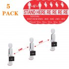Floor Decals Stand Here Social Distancing Marker Floor Decal For Social Distancing While In Line 5pcs