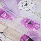 Flower Printing Shading Window Curtains for Modern Living Room Balcony Kitchen Decor purple_1m wide x 2m high