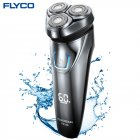 Flyco FS339 Shaving Machine Razor Barbeador Waterproof Rechargeable Washable Rotary Blade Electric Shaver black_Australian regulations