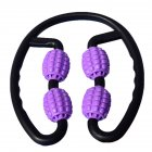 Foam Muscle Roller Massager Leg Neck Hand Arm Muscle Relax Massager Indoor Sports Yoga Bodybuilding Equipment  purple