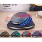 Foldable LED Light Destop 10W Qi Fast Wireless Phone Charger Stand for iPhone X XS Max XR 8 Plus for Samsung S8 S9/S9+ Note 9 8 gray