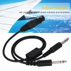 For Airbus XLR To GA Dual Plug 5 Pin Headset Adapter Cable Aviation Headphone Cable Earphone Accessories black