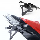 For BMW S1000RR 10-16Motorcycle Foldable License Plate Holder License Bracket with light black