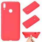 For HUAWEI Honor 8C Lovely Candy Color Matte TPU Anti scratch Non slip Protective Cover Back Case red