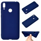 For HUAWEI Honor 8C Lovely Candy Color Matte TPU Anti-scratch Non-slip Protective Cover Back Case Navy