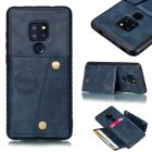For HUAWEI MATE 20 Double Buckle Non-slip Shockproof Cell Phone Case with Card Slot Bracket blue
