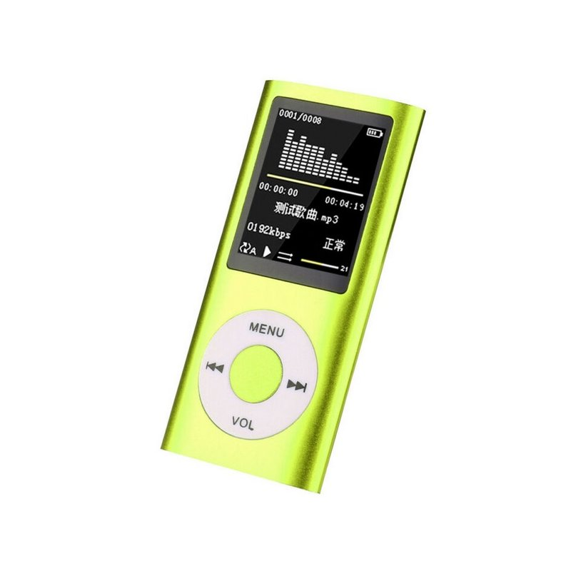 For IPod Style 32GB Portable 1.8in LCD MP3 MP4 Music Video Media Player FM Radio Portable Colorful MP3 MP4 Player Music Video green