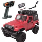 For Rbrc 1:14 Wrangler RC Car Model Toy Simulate 2.4g Four-wheel Drive Car RB-F1S (red with luggage rack)