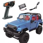 For Rbrc 1:14 Wrangler RC Car Model Toy Simulate 2.4g Four-wheel Drive Car RB-F2 (blue convertible)