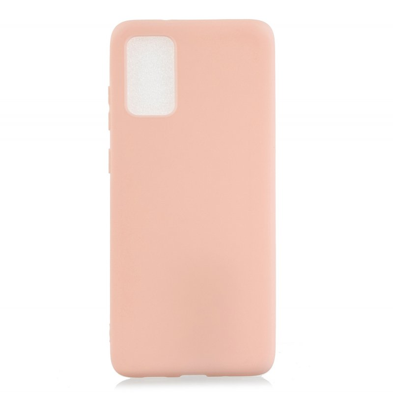 For Samsung A01/ A11/A21/A41/A51/A71/A81/A91 Mobile Phone Case Lovely Candy Color Matte TPU Anti-scratch Non-slip Protective Cover Back Case 6 light pink