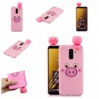 For Samsung A6 plus 2018 3D Cartoon Lovely Coloured Painted Soft TPU Back Cover Non-slip Shockproof Full Protective Case Small pink pig