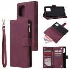 For Samsung S10 Lite 2020 Mobile Phone Case Wallet Design Zipper Closure Overall Protection Cellphone Cover  5 wine red