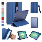 For Samsung tab S3 9.7 inch T820/T825 PU Leather Protective Case with Pen Bandage Sleep Function Dark blue