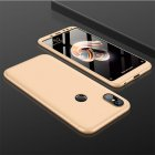 For XIAOMI Redmi Note 5(Globle)/Redmi Note 5 Pro (Inida) 3 in 1 Fashion Ultra Slim Full Protective Back Cover  Golden