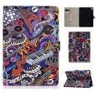 For iPad 5/6/7/8/9-iPad Pro9.7-iPad 9.7 Laptop Protective Case Color Painted Smart Stay PU Cover Graffiti