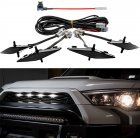 Front  Hood  Grille LED  Lights  Set Assy W/wire Harness For Automobile Car Modification black