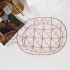 Fruit Storage Basket Iron Pineapple Shape Tray Nordic Style Dessert Snack Plate Rose gold